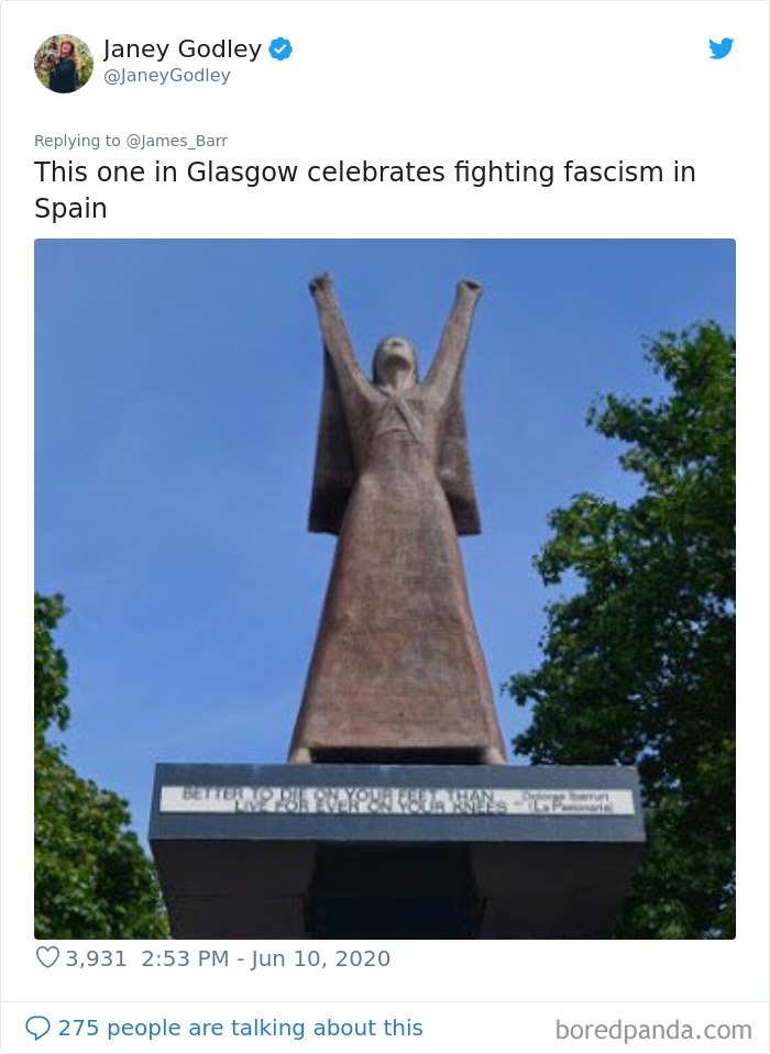 Famous statues: Fighting Fascism