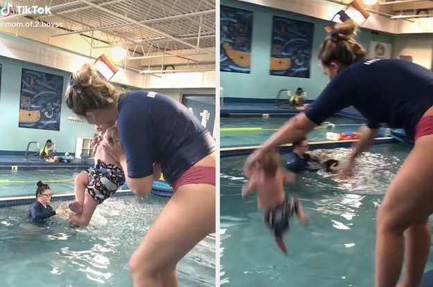 Here's The Story Behind That Viral TikTok Showing A Baby Getting Tossed In A Pool