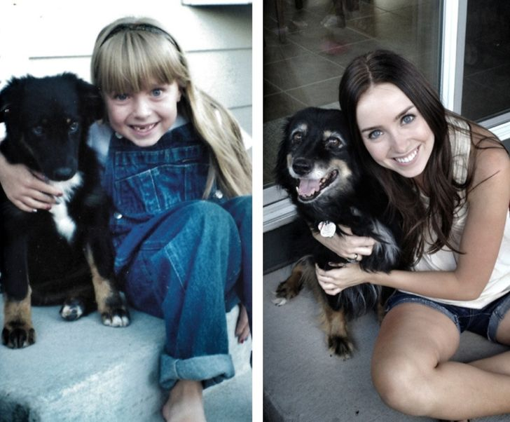 My dog and me in 1998 and in 2012