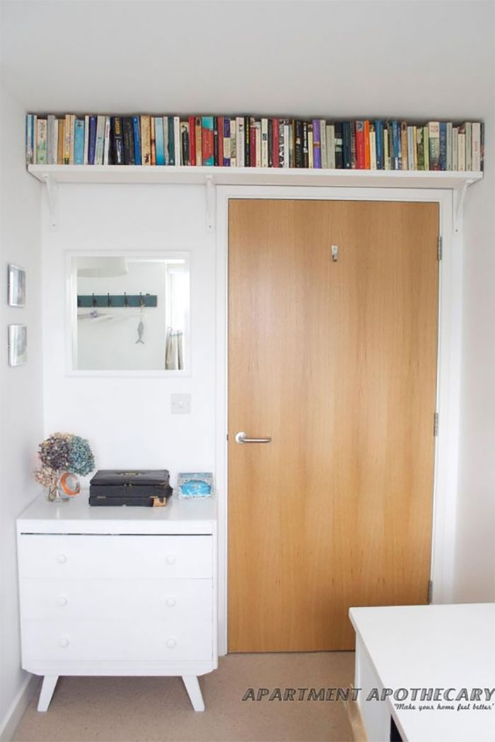 Hang Shelves Over The Door For Extra Space