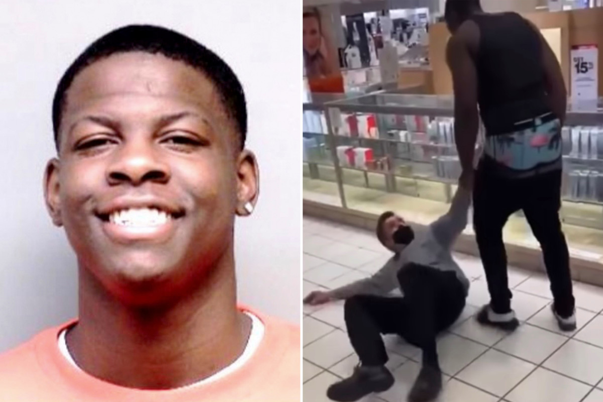 Damire Canell Palmer was caught on video assaulting Macy's manager in Michigan