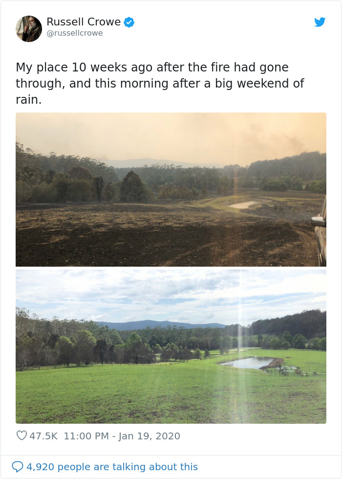 The unseen comparison photos of the Earth healing itself