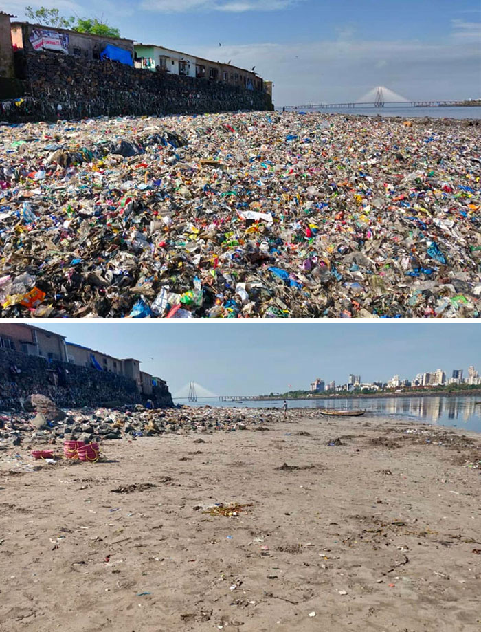 The Youth cleaned Mithi River (Mumbai), for one year. And the comparison photos of the river, then vs now are worth seeing.