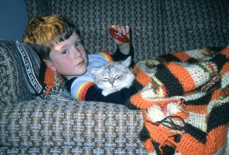 This is a really old picture of me and the best cat that ever lived, Nippy